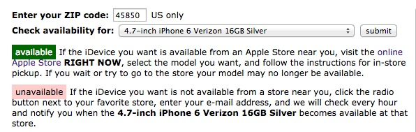 Find an iPhone 6 in stock with this free tool.