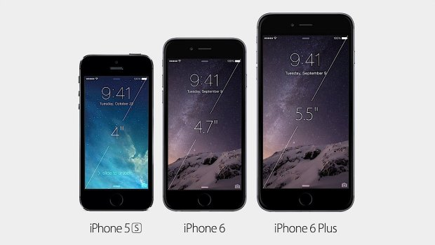 The iPhone 6 vs iPhone 6 Plus screens are not the same.
