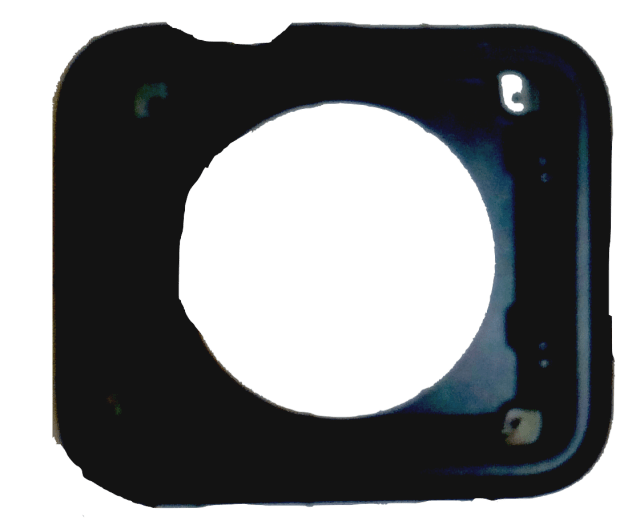 This is the alleged iWatch housing. A circular opening for the sensor and  a larger top for the display.