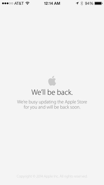 The Apple Store is still down for some.