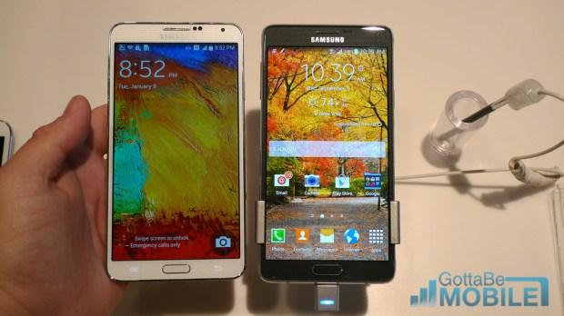 Galaxy Note 3 vs. Galaxy Note 4.