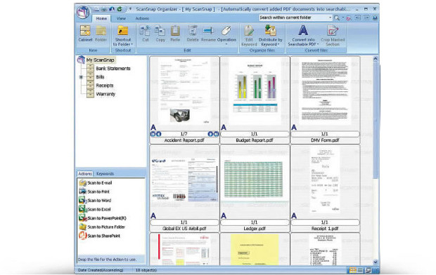 scansnap ix100 organizer software
