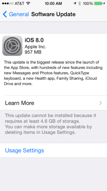 iOS 8 storage problems are frustrating iPhone users.