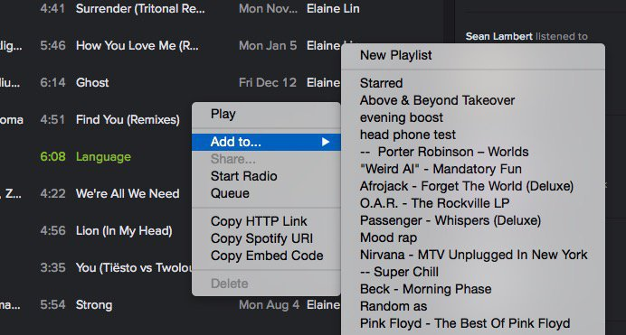 Use this guide to copy a Spotify playlist.