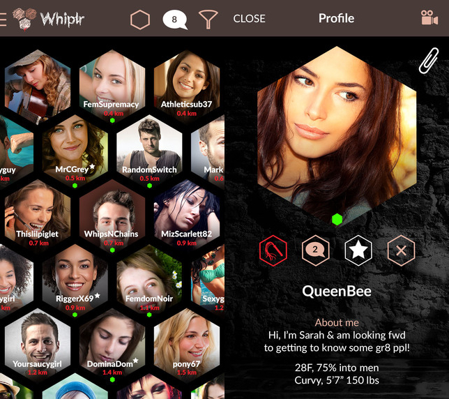 Whiplr is essentially a 50 Shades of Grey app to help you find a kinky date.