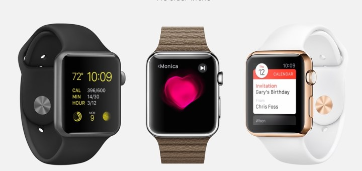 You can also buy three versions of the Apple Watch.