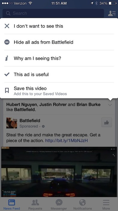 Tell Facebook what you don't want to see.
