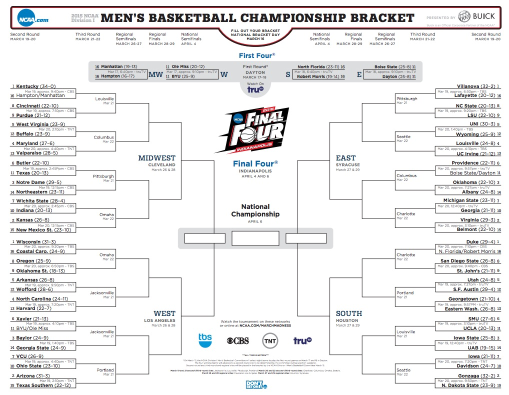 photo about Printable Ncaa Bracket With Times and Channels referred to as ncaa bracket on line -