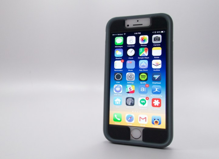 The Speck iPhone 6 MightyShell + Faceplate covers the front and back of your iPhone.