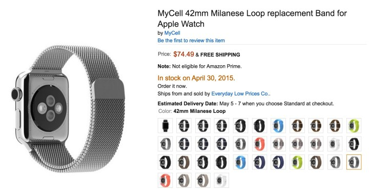 Be wary of Apple Watch accessories for now.