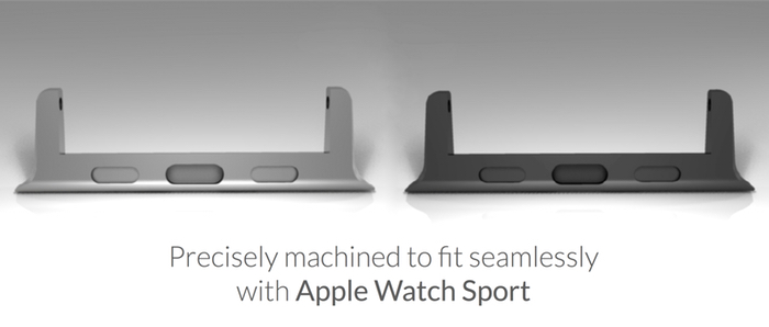 This Apple Watch Band adapter lets you use any 22mm watch band with the Apple Watch.
