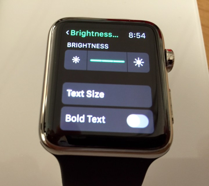 Change the size of Apple Watch text or make it bold.
