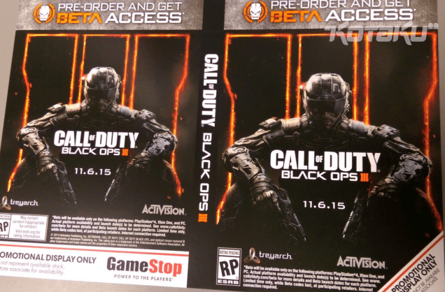 A new poster shows a Call of Duty: Black Ops 3 release date on November 6th.