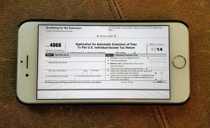 How To File A 2016 Tax Extension Irs Form 4868 On Iphone Ipad Or