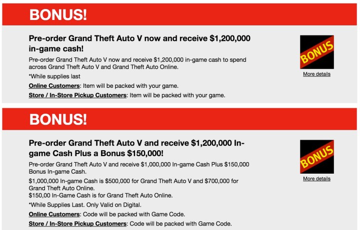 Get in game cash with a GTA 5 PC pre-order.