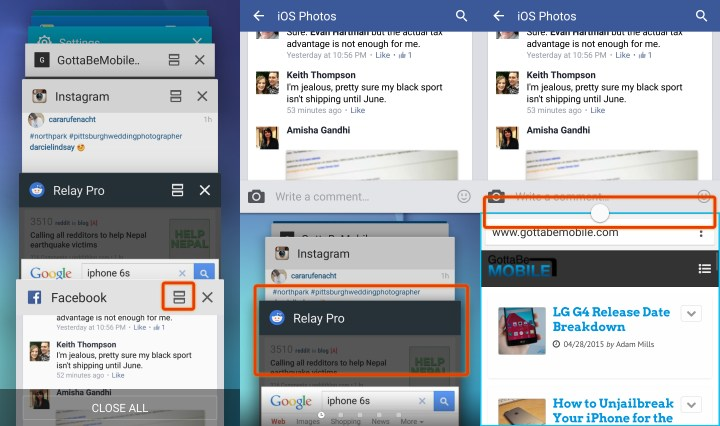 This is how you use the Galaxy S6 multitasking feature that replaces Multi mode.