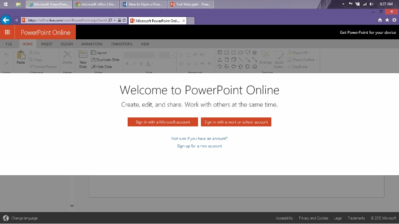 How to open edit a powerpoint presentation online free how to open a power point presentation online 2 toneelgroepblik Choice Image