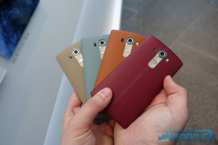Many users will love the LG G4 leather back.