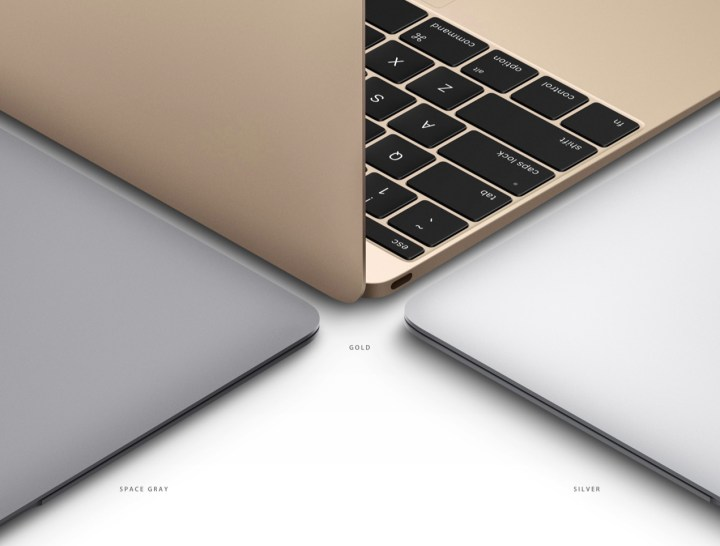 Pick from three Macbook color options.