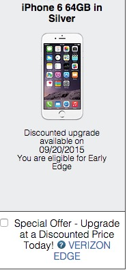 Don't count on an early upgrade to go through for the Galaxy S6.