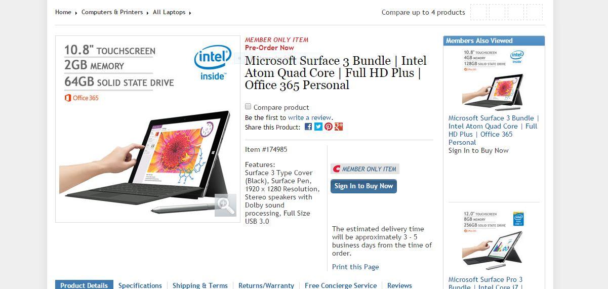 Big Surface 3 Pre-Order Deal Arrives