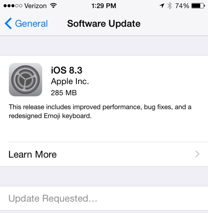 iOS 8.3 Performance Upgrades