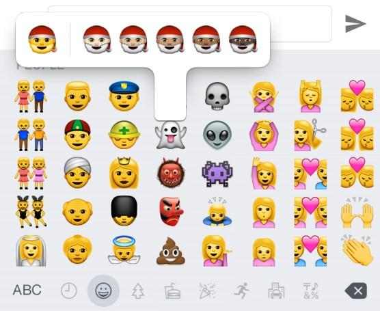 iOS 8.3 vs iOS 8.2 What's New Emoji Skin Color