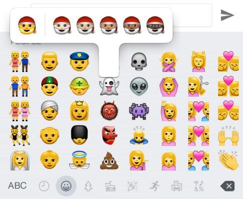 iOS 8.3 vs iOS 8.2 What's New Emoji Skin Color