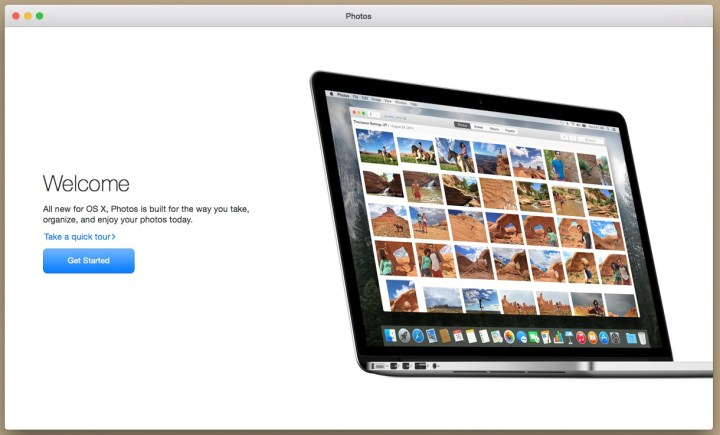 Start the process to upgrade to Photos.