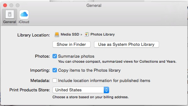 Use a new library as the System Library in Photos so you can use ICloud Photo Library.