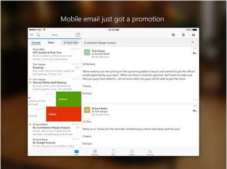 outlook for ipad