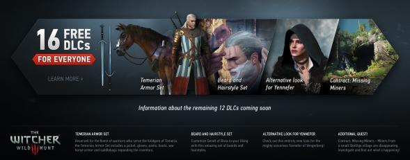 Enjoy free Witcher 3 DLC.