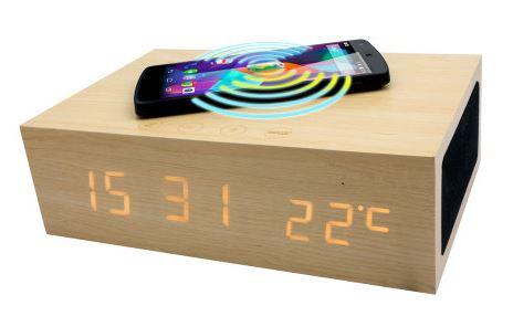 olixar qi-tone alarm clock bluetooth speaker