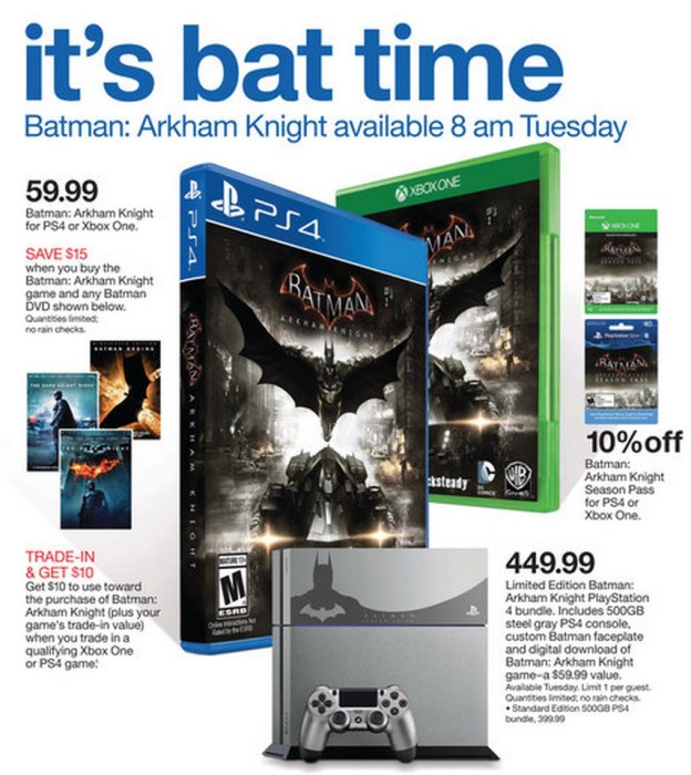 You can score several Batman Arkham Knight deals.