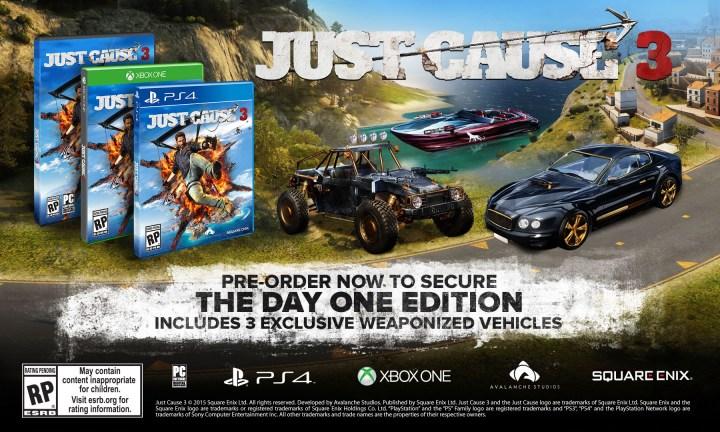 Just Cause 3 pre-order Bonus