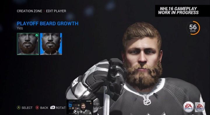 NHL 16 Player Customization and Creation