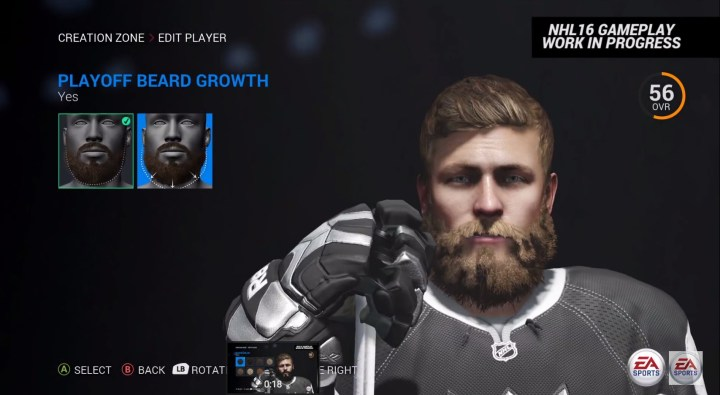 NHL 16 Player Customization and Creation