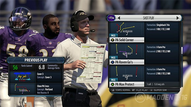 Pick a Shot play in the new Madden 16 playbook.