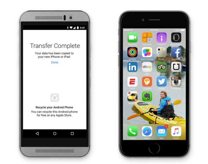 Switch from Android to iPhone easier on iOS 9.