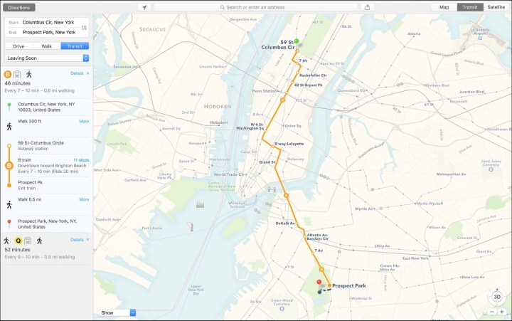 Apple Maps Upgrades on Mac
