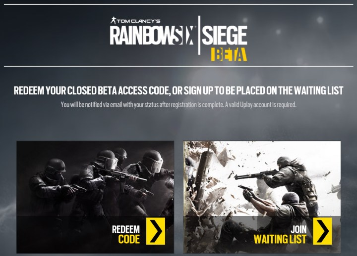How to join the Rainbow Six Siege beta.