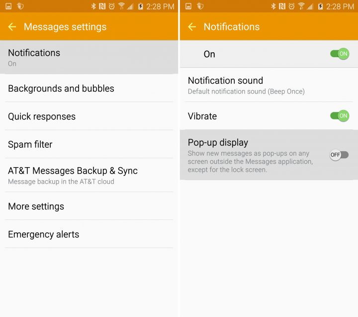 how to turn off enhanced messaging on s6
