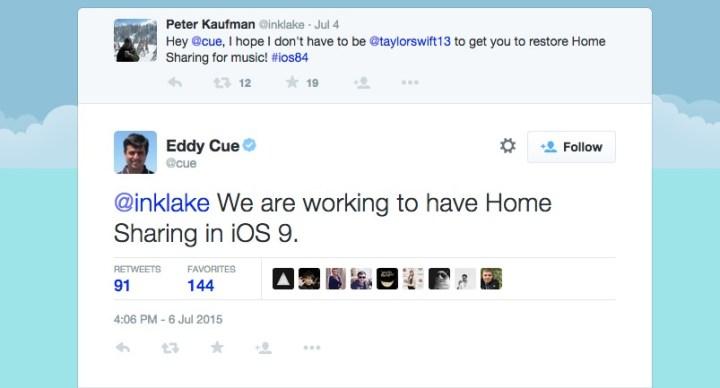 iOS 8.4 Home Sharing
