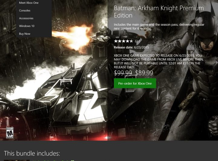 xbox batman deal