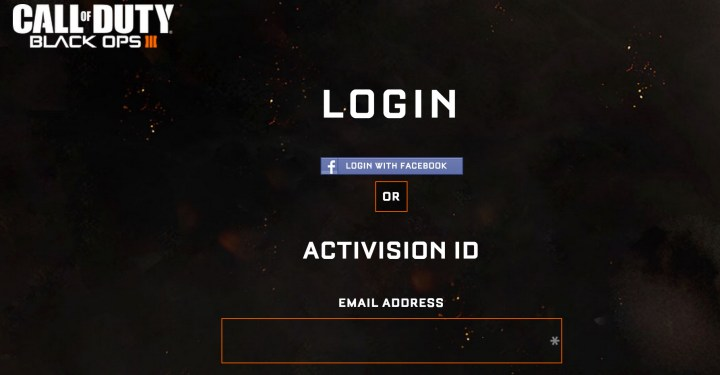 Log in to link your Black Ops 3 beta key to an account.