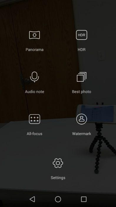 Huawei P8 Lite camera modes
