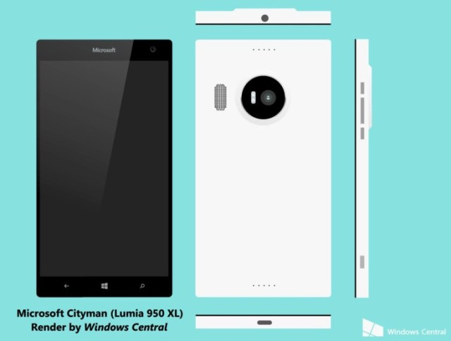 Lumia 950 XL concepts from Windows Central.
