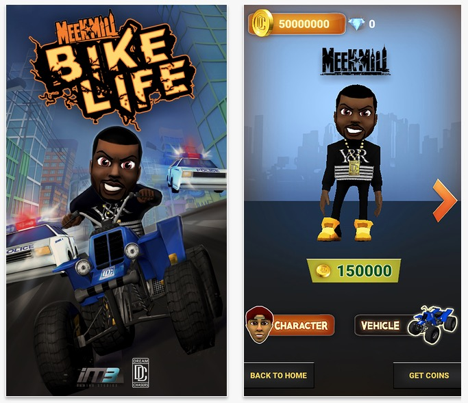 You can make in-app purchases in Meek Mill Presents Bike Life to upgrade your character and bike.