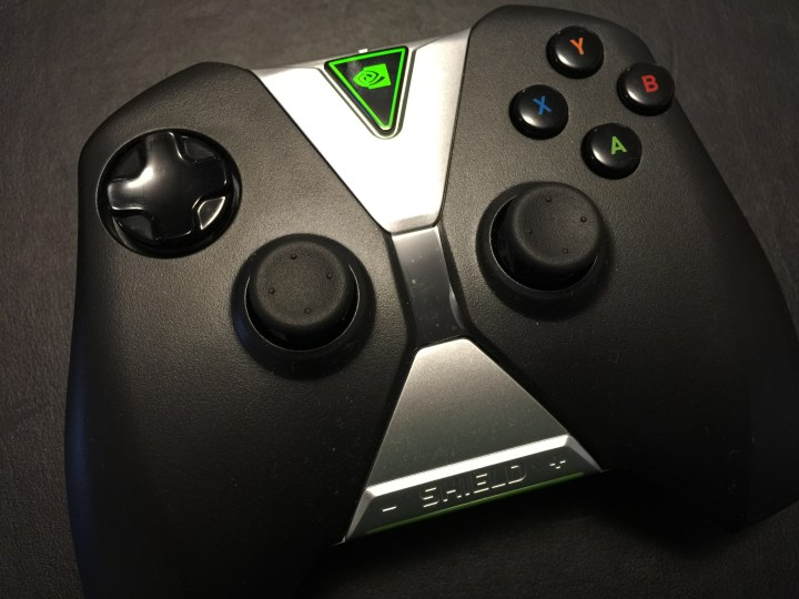 nvidia shield tv game controller top