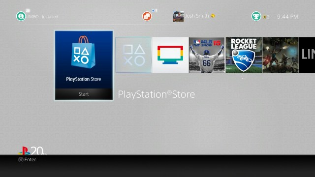 Go to the PlayStation Store.